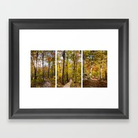 Autumn Triptik Framed Art Print