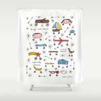 Things With Wheels Shower Curtain