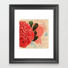 Letters I Have Written, Abstract Floral Brushstrokes Words Framed Art Print