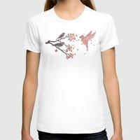 nature T-shirts featuring Blossom Bird  by Terry Fan