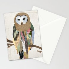 Owl Collage Stationery Cards