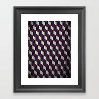 pop cube Framed Art Print
