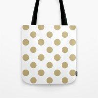 Polka Dots (Sand/White) Tote Bag