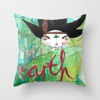Eart(H)eart Throw Pillow