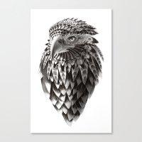 Black And White Ornate R… Canvas Print