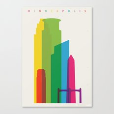 Shapes of Minneapolis Canvas Print
