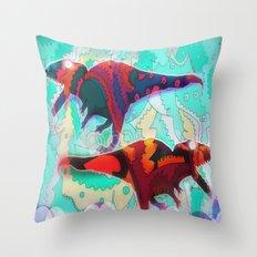Dinosaur Collaboration Throw Pillow