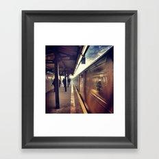 Subway Passing Framed Art Print