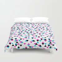 Electric Triangles Duvet Cover