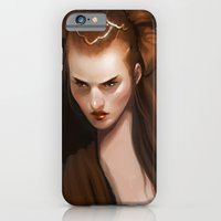 iPhone & iPod Case featuring portrait by Kelly Perry