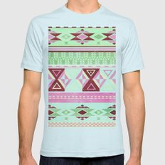 Neon Aztec Mens Fitted Tee Light Blue SMALL