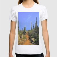 Desert Pathway Womens Fitted Tee Ash Grey SMALL