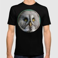 GREY OWL Mens Fitted Tee Black SMALL
