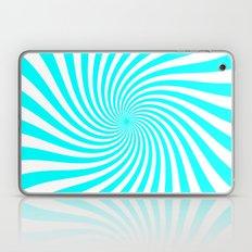 Swirl (Aqua Cyan/White) Laptop & iPad Skin