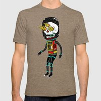 denrobot Mens Fitted Tee Tri-Coffee SMALL