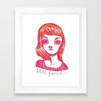 Doll Faced Framed Art Print