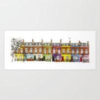 Hartland Road 1-15/Camde… Art Print
