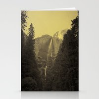 Yosemite Falls Tin Yellow Stationery Cards