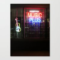 Music Always Round us Canvas Print