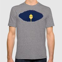 Good Hair Days: Big Mens Fitted Tee Tri-Grey SMALL