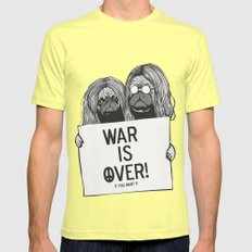 War is over Pugs Mens Fitted Tee Lemon SMALL
