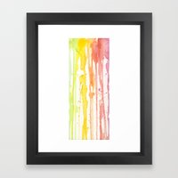 Rainbow Watercolor Framed Art Print
