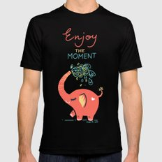 Enjoy the Moment Mens Fitted Tee Black SMALL