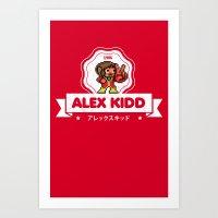 Alex Kidd Art Print