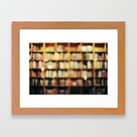Book Bokeh Framed Art Print
