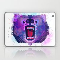Lilac Geometric Bear  Laptop & iPad Skin