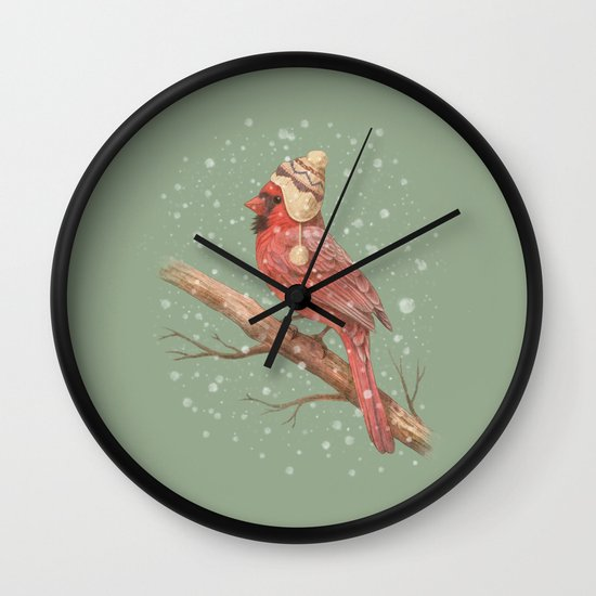 First Snow  Wall Clock