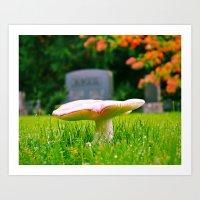Autumn mushroom Art Print