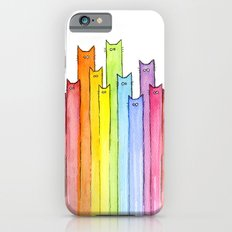 Cat Rainbow Watercolor P… iPhone 6 Slim Case