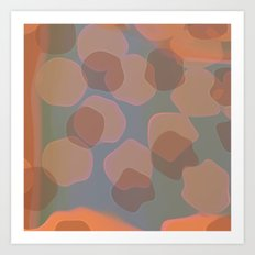 Peachy Colors Art Print
