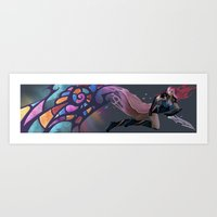 anime Art Prints featuring Anime by Elena Naylor
