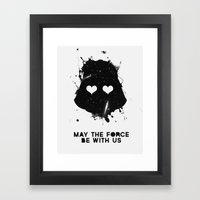 May The Force Be With Us Framed Art Print