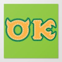 Monster University Fraternity : Oozma Kappa Canvas Print