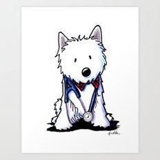 KiniArt Westie Love Doctor Art Print