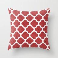 Red Clover Throw Pillow
