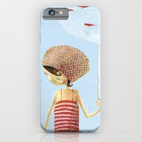 iPhone & iPod Case featuring FISH IN UMBRELLA - triptych image 2 by Sonia Poli