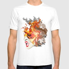Fire- from World Elements Series White SMALL Mens Fitted Tee