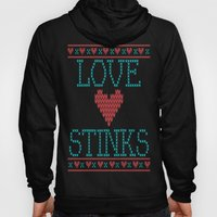 Love Stinks Cross Stitch Hoody