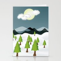 Midnight Isolation Stationery Cards