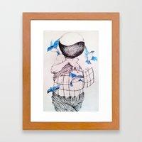 Human flight Framed Art Print