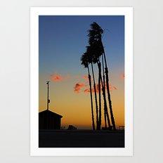 Long Beach Hut Art Print