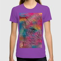 Facing Randomness. Womens Fitted Tee Ultraviolet SMALL