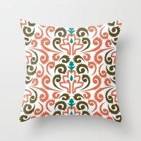Moroccan Damask Throw Pillow