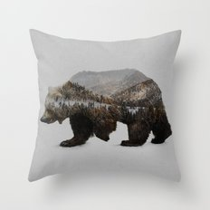 The Kodiak Brown Bear Throw Pillow