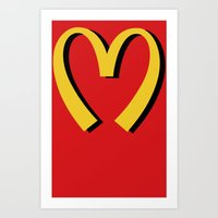 McDonald's MOSCHINO Art Print