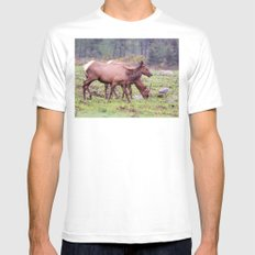 Snoqualmie Valley Elk White Mens Fitted Tee SMALL